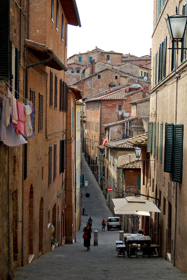 A street in Siena