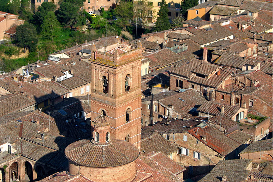 View from the top of Torre del Mangia, Siena