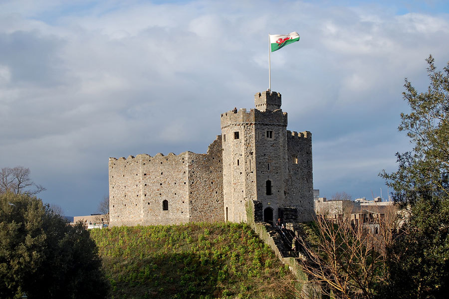 Cardiff Castle keep, Wales