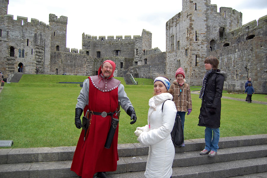 At the Caernarfon Castle, Wales
