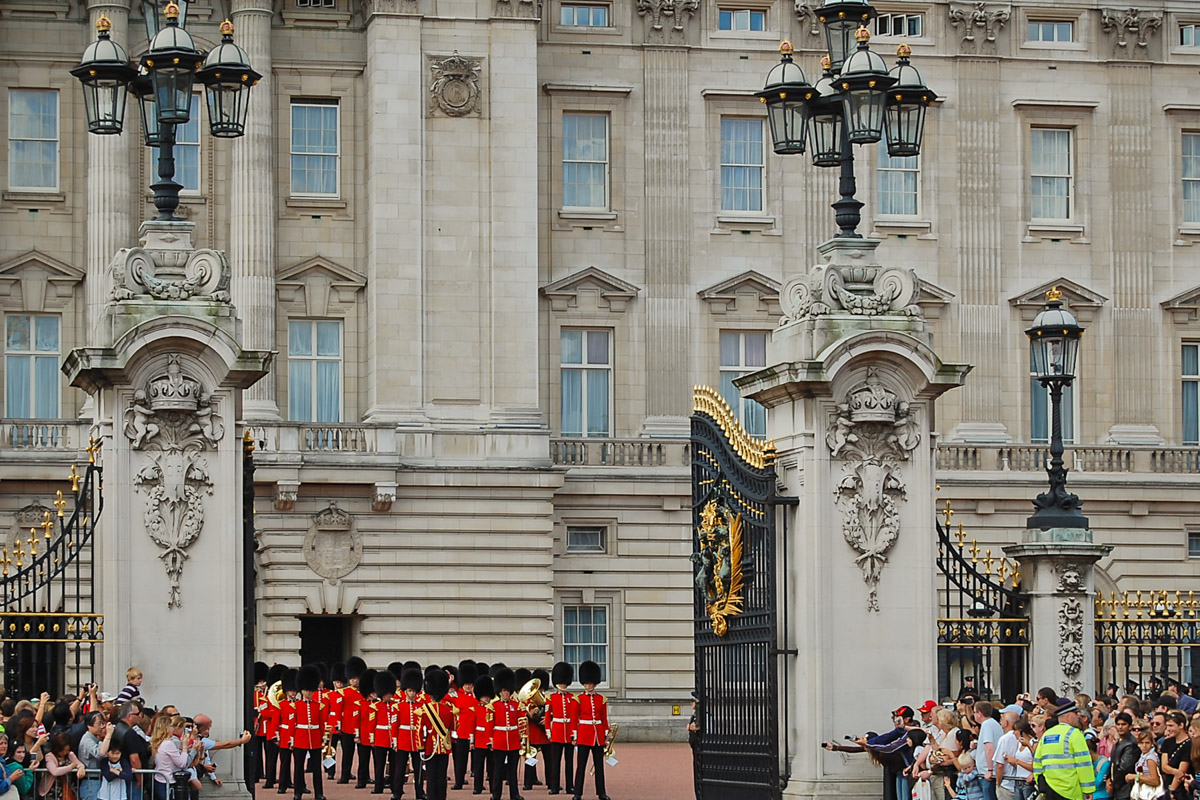 Ceremony of Changing Guard, Buckinghame Palace, London