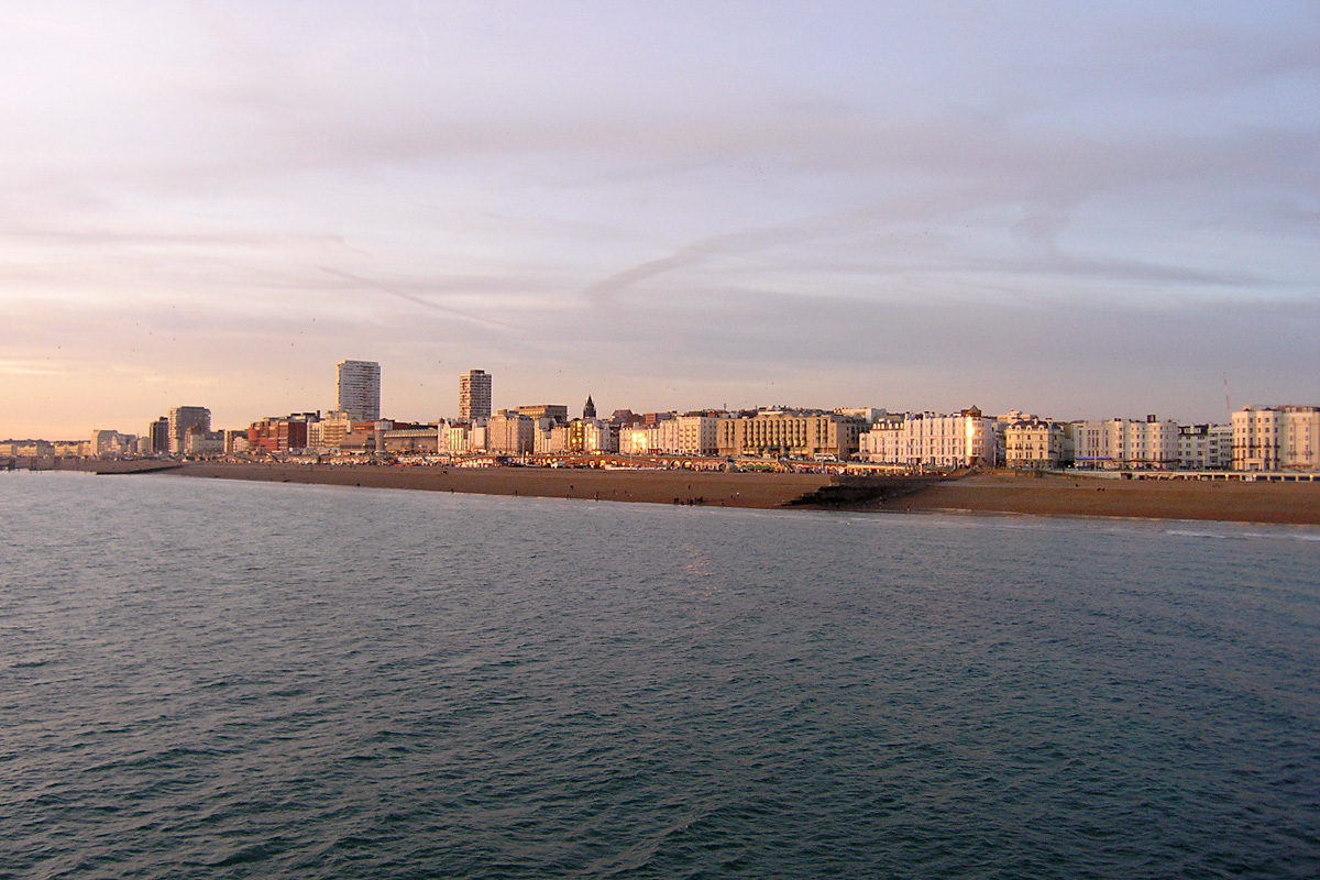 Brighton view from its pier