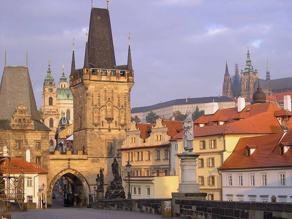 Malá Strana side of Charles Bridge