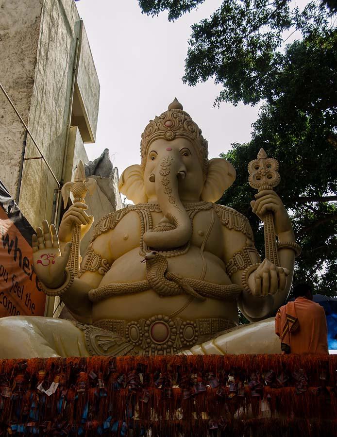 At Shiv Mandir temple, Bangalore
