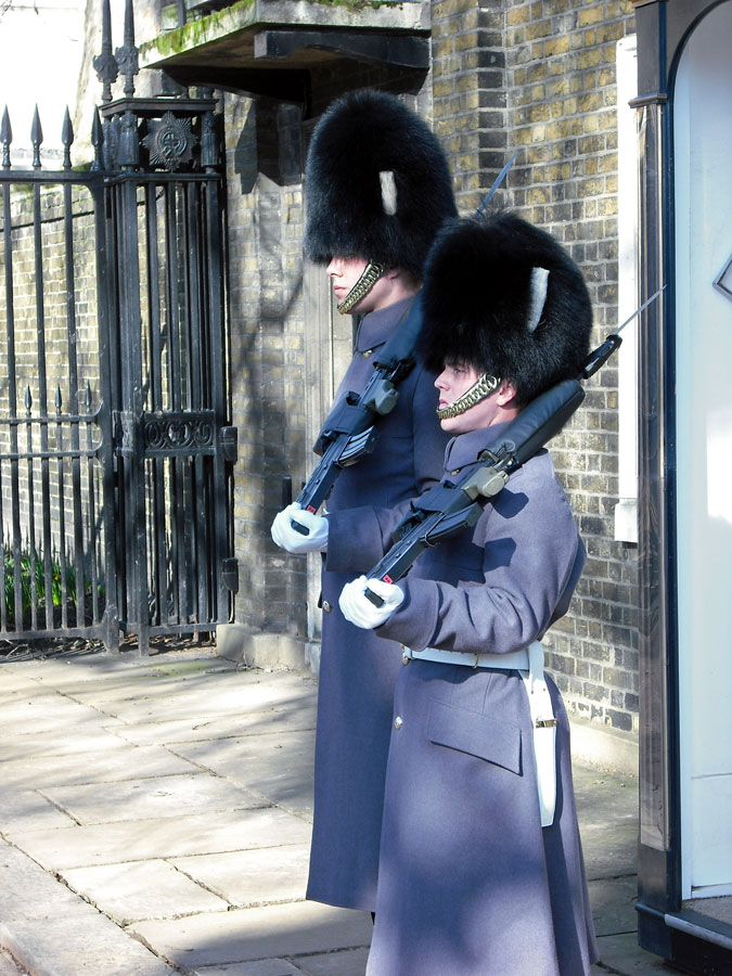 Guards at the Clarence House