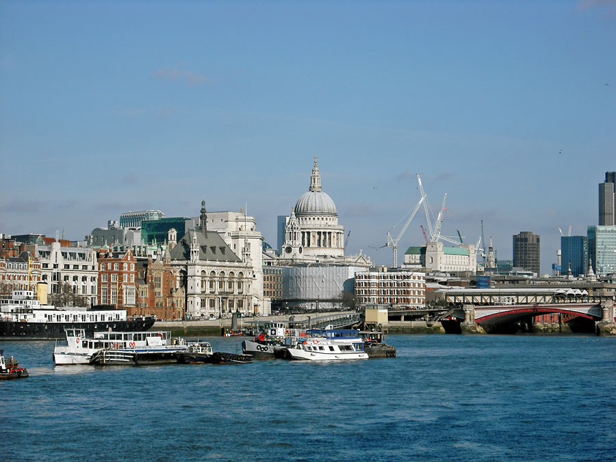 View to St Paul's Cathedral from Southbank