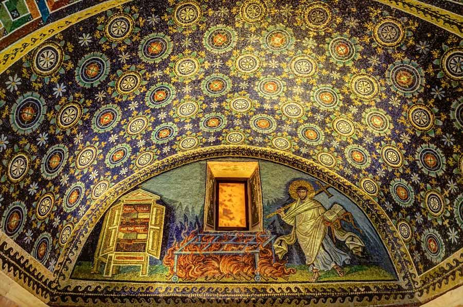 Inside Mausoleo di Galla Placidia, Ravenna, Italy