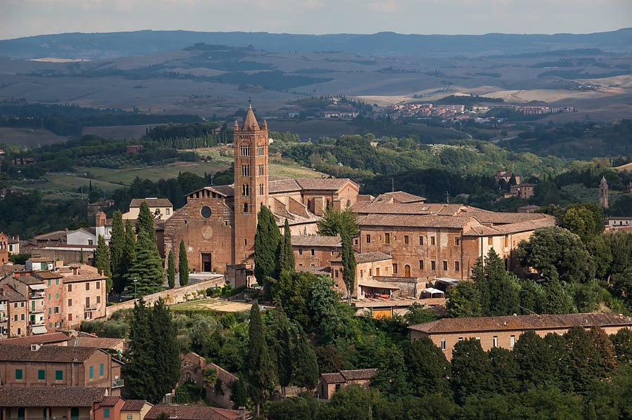 View from Panorama del Facciatone, Siena, Italy