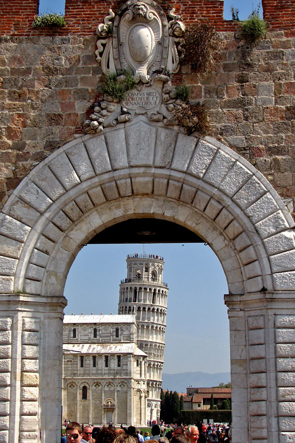 A view to Piazza del Duomo, Pisa, Italy
